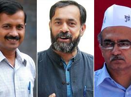 yogendra and prashant attacka on aap and kejriwal